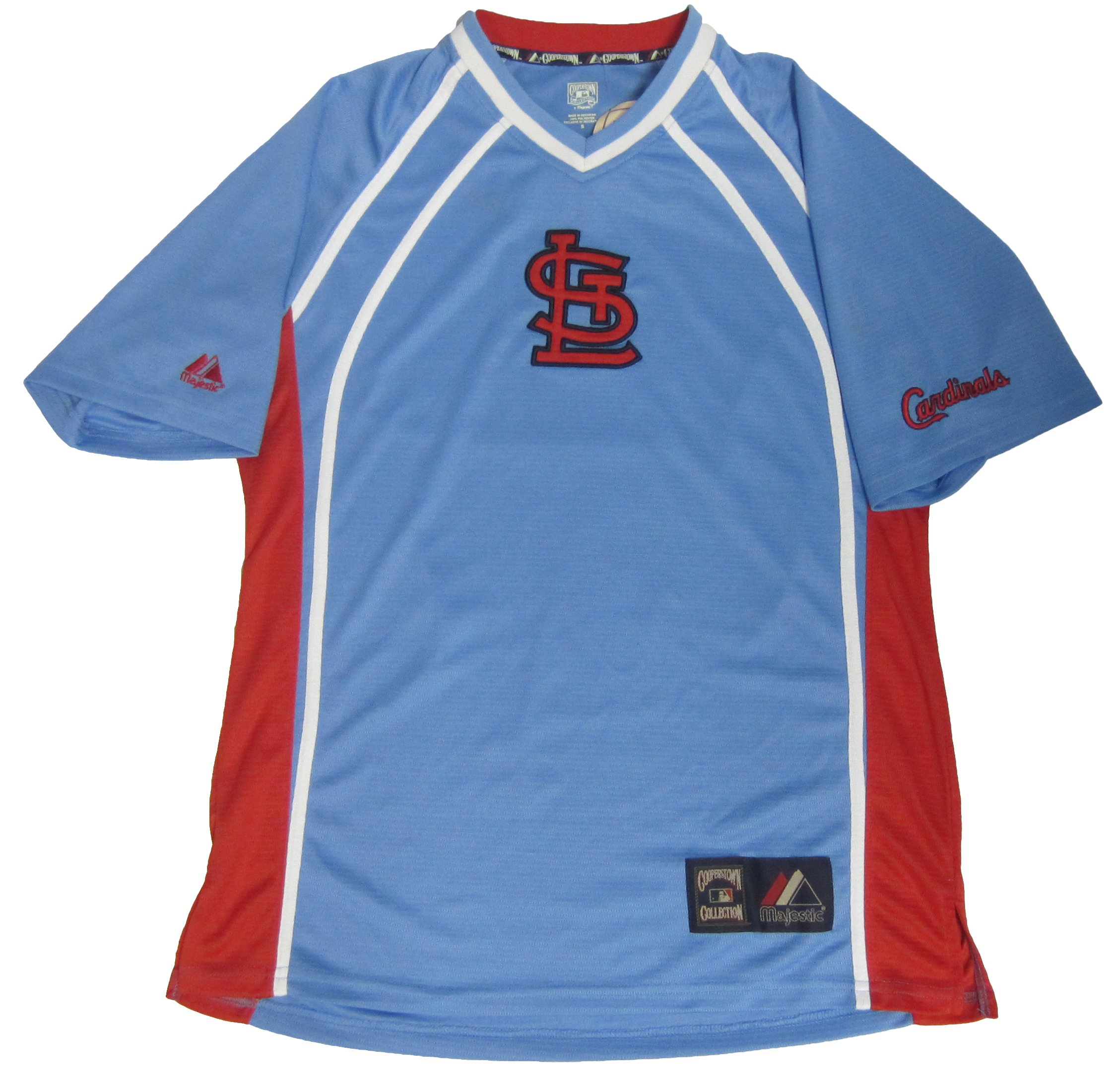 9e5f315d Details about NWT Mens Majestic Cooperstown Collection St. Louis Cardinals  Jersey Size S
