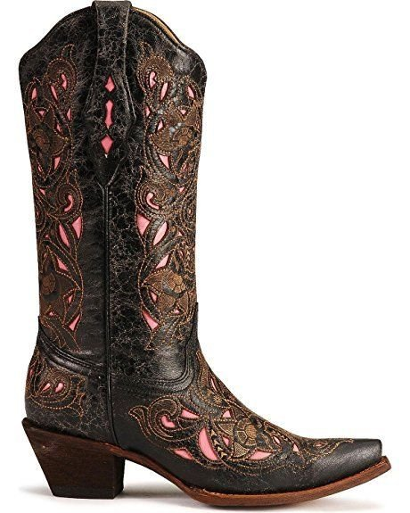 Corral Womens 100/% Leather Snip Toe Boot A2856