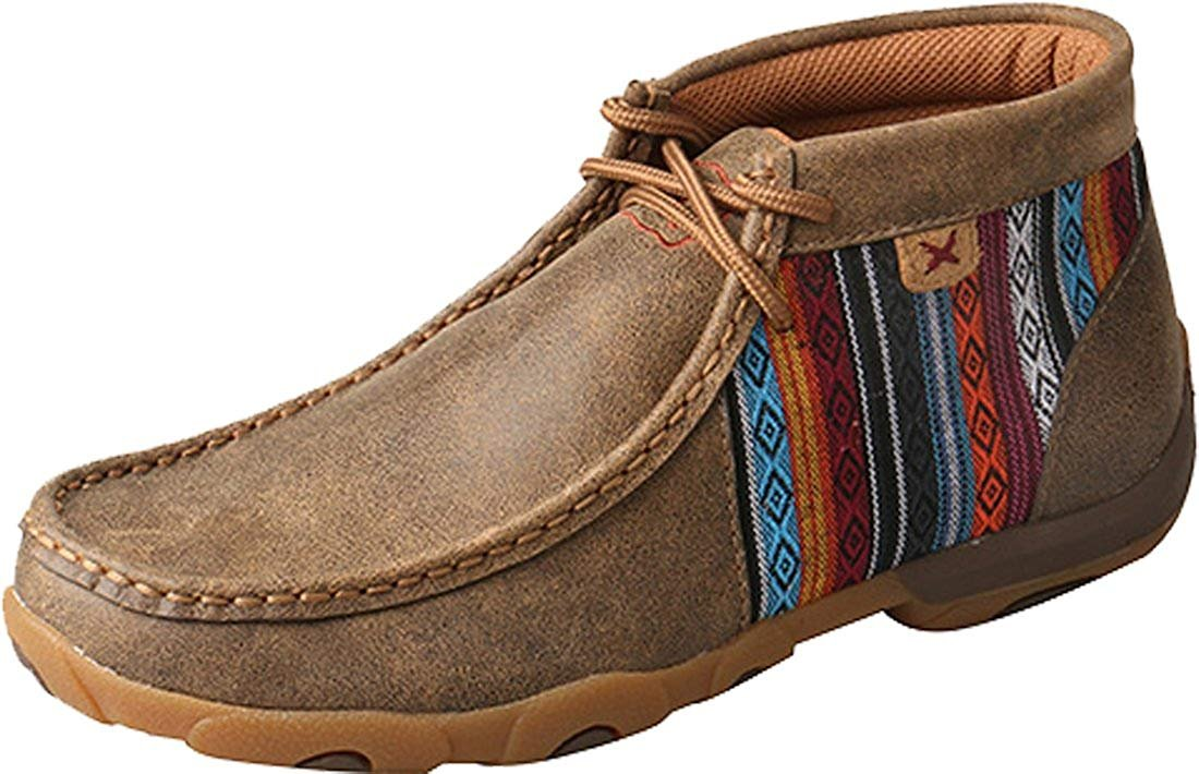 78e114f43e2 Twisted X Women s Leather Lace-up Rubber Sole Driving Moccasins Serape