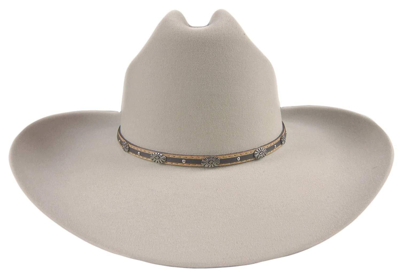 Stetson 6X Oak Creek Silverbelly Cowboy Hat Size 7 1 8 Oval 4