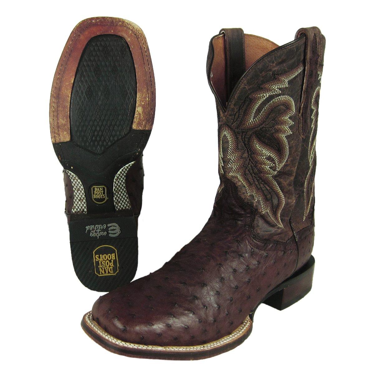 Dan Post Men's Alamosa Western Boot Ostrich DP3875 Size 10.5D NEW Shelf Pull