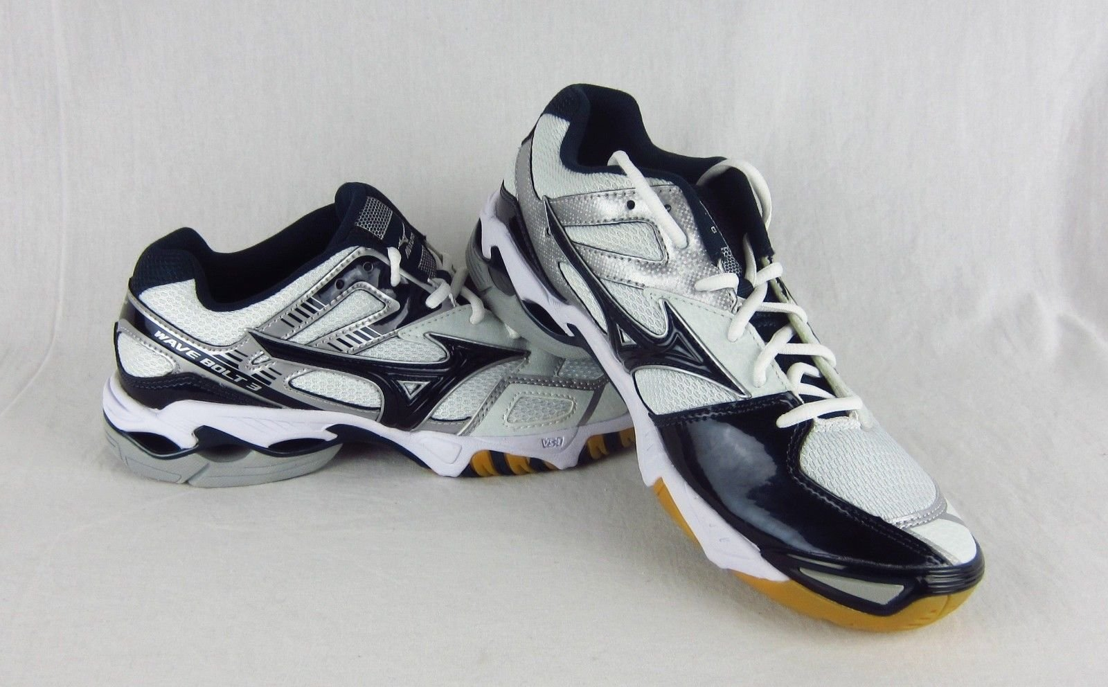 1044eb816b5 New Womens Mizuno Wave Bolt 3 Volleyball Shoe Sneaker Navy White