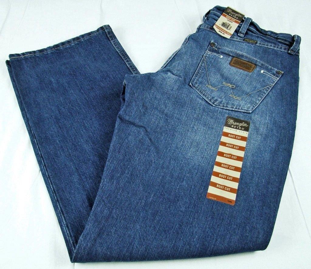 0244174fb0d Mens NWT Wrangler Retro Mid Rise Boot Cut Jeans WRT20TB Waist Size 30 x 30