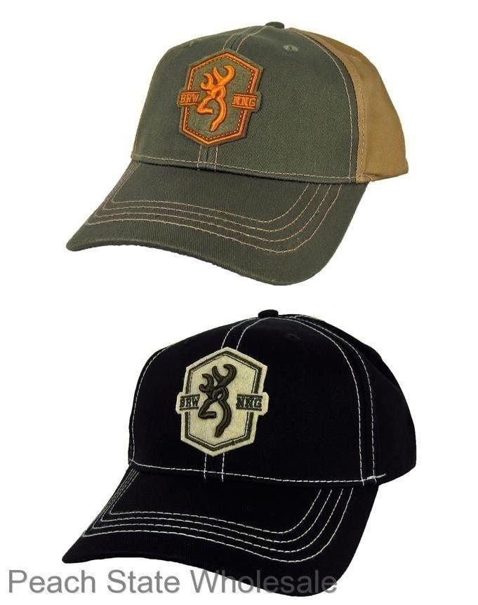 c929200171700 Men s NWT Browning Badge Cap Buckmark Baseball Cap Adjustable Hat Olive or  Black