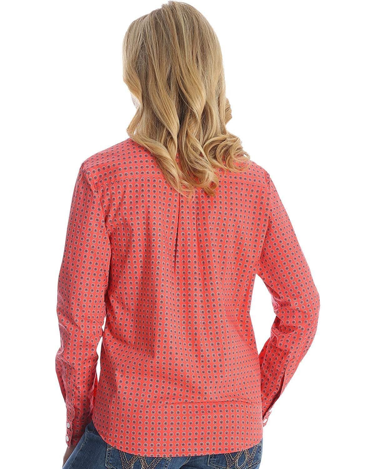 237f2bbe Wrangler Women's George Strait For Her Western Shirt- Peach Print. Product  Details