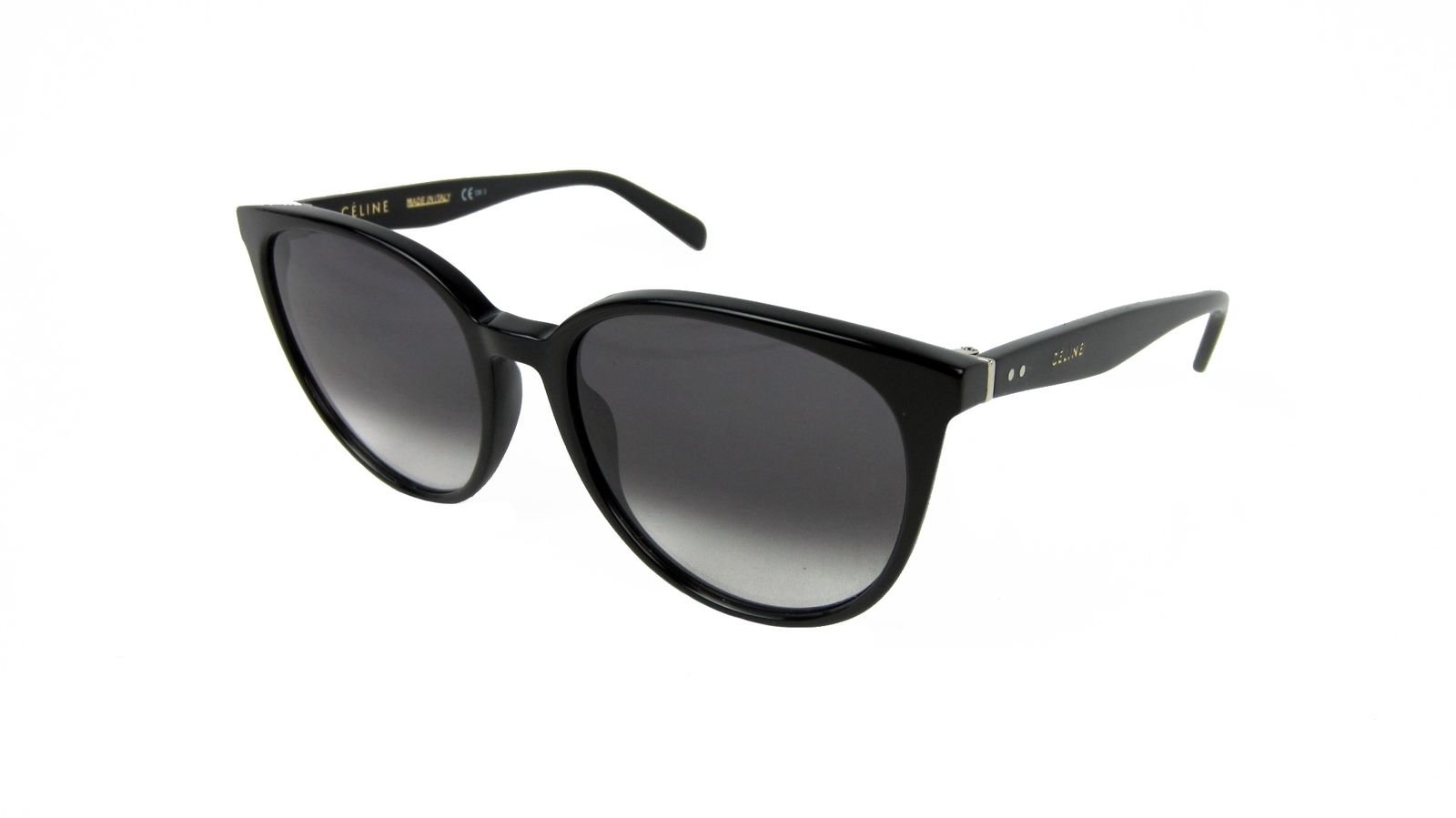 d58666cc01 Details about Celine Thin Mary Large Round Sunglasses Black Frame Dark Grey  Gradient 55mm