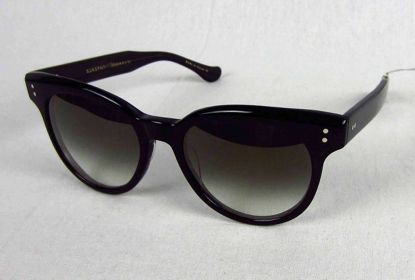 84d52b49bbb Dita Sunspot Oversized Round Sunglasses Black Frame Gray Gradient 22028 -A-BLK-53