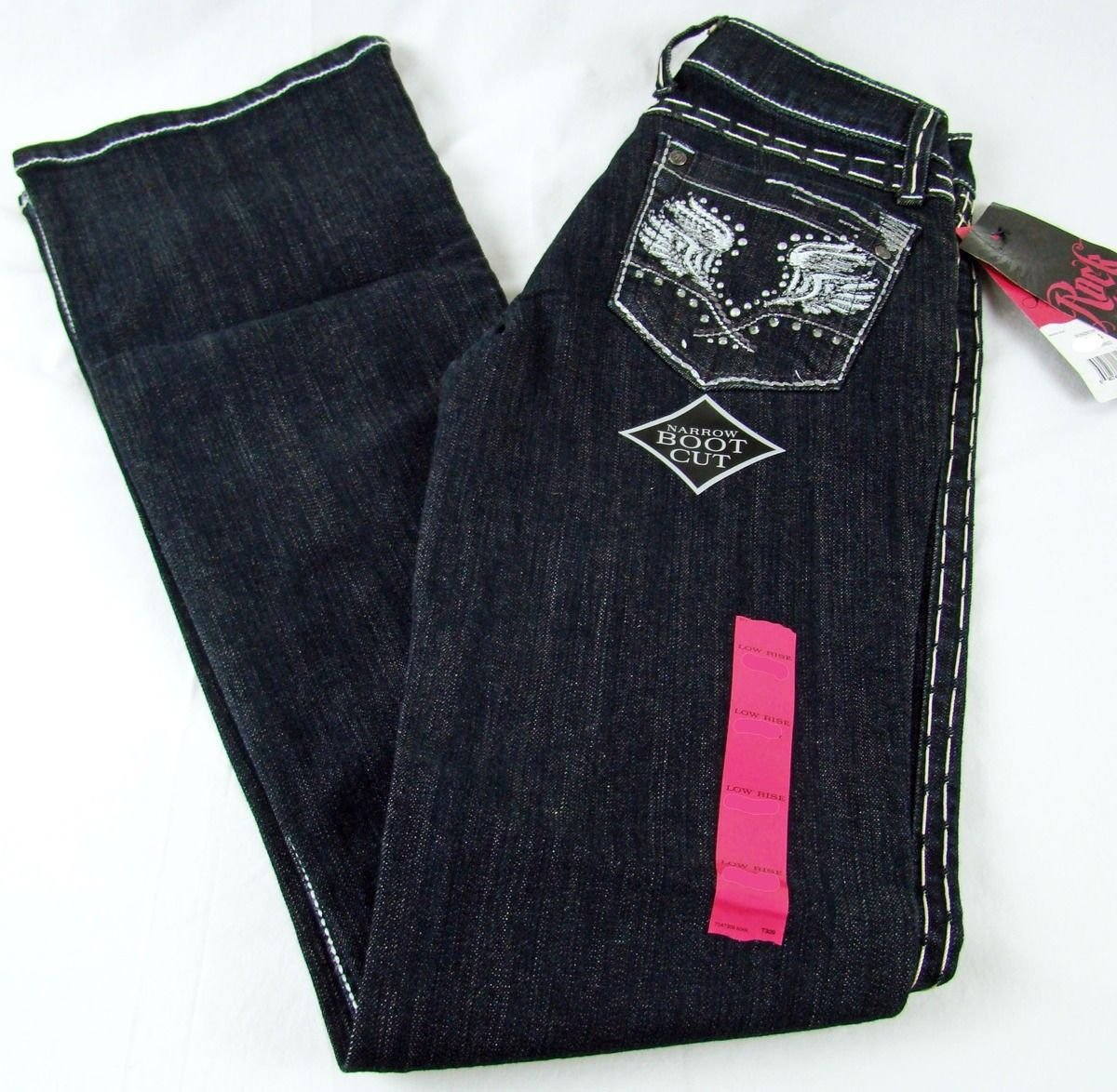 f40c771e Details about Womens Wrangler Western Rock 47 Crosswired Low Rise Boot Cut  Jean NWT Sz 1/ x 34