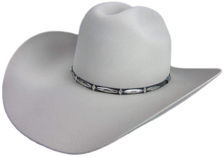 28e002b64f2 Stetson Del Norte 6X Silver Grey Cowboy Hat 7 3 8 Oval 4 1 4