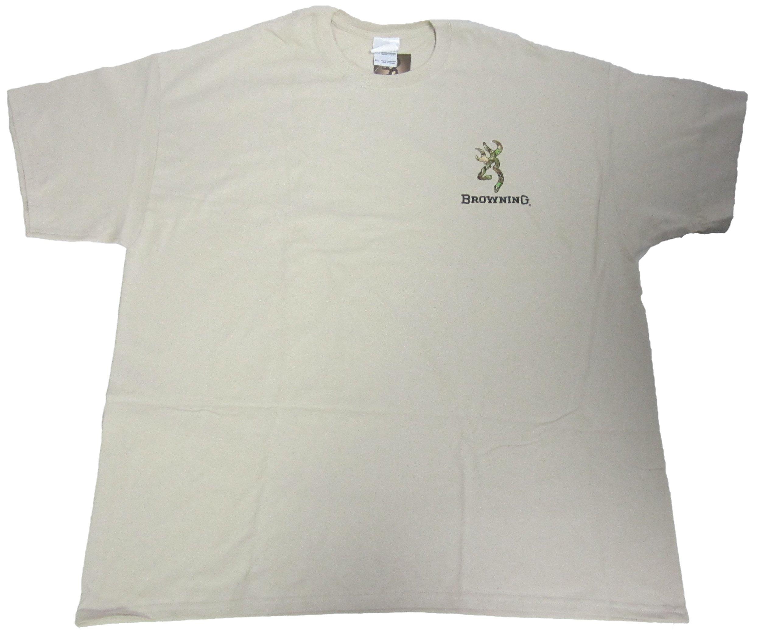 caba1f69ab003 NWT Mens Browning Custom Camo Buckmark Short Sleeve T-Shirt Sand Size 2XL