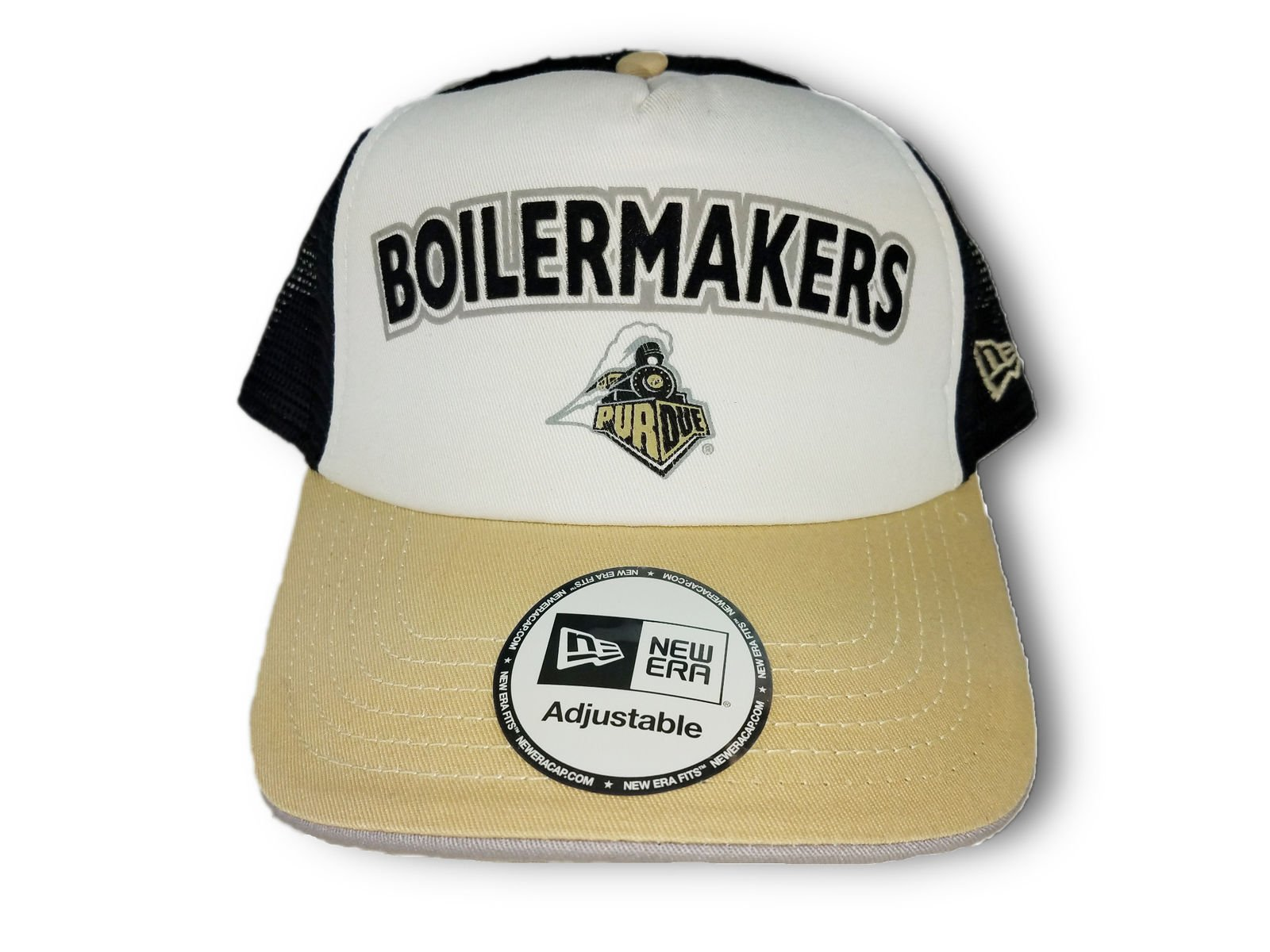 the best attitude 6c19f 645a2 College NCAA Purdue Boilermakers Snapback Baseball Hat Cap Mesh White Old  Gold