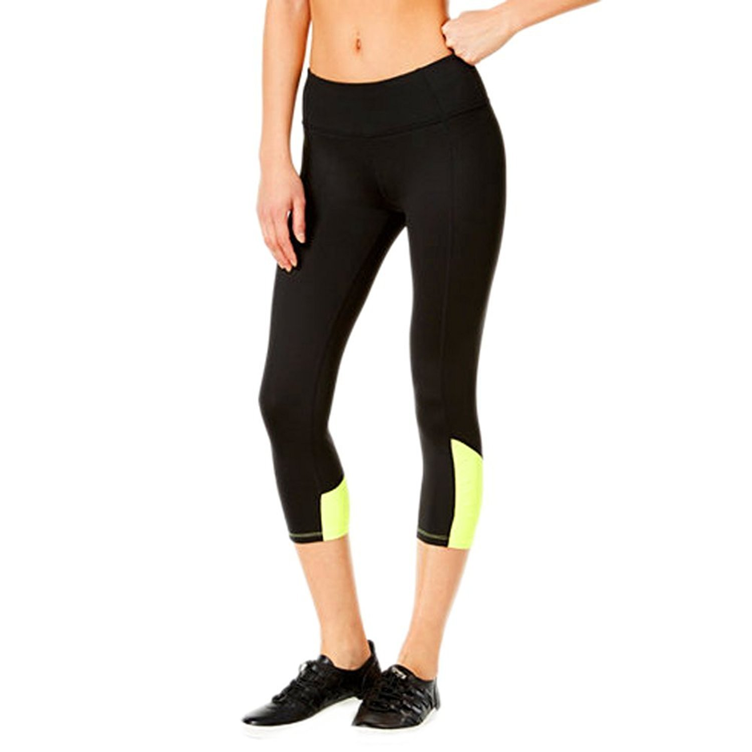 d3d20552b6d72e Calvin Klein Performance Women s Shirred Color Block Crop Legging ...