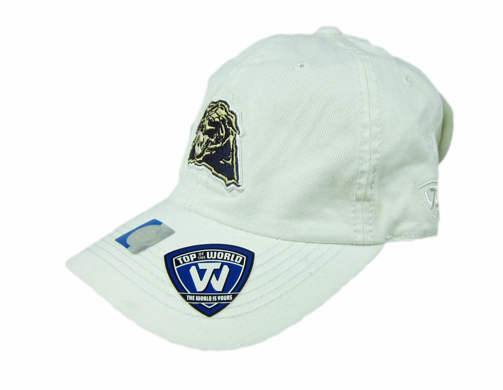 best website d4b05 ea924 Top Of The World NCAA Pittsburgh Panthers Adjustable Strapback Cap Hat  White NWT