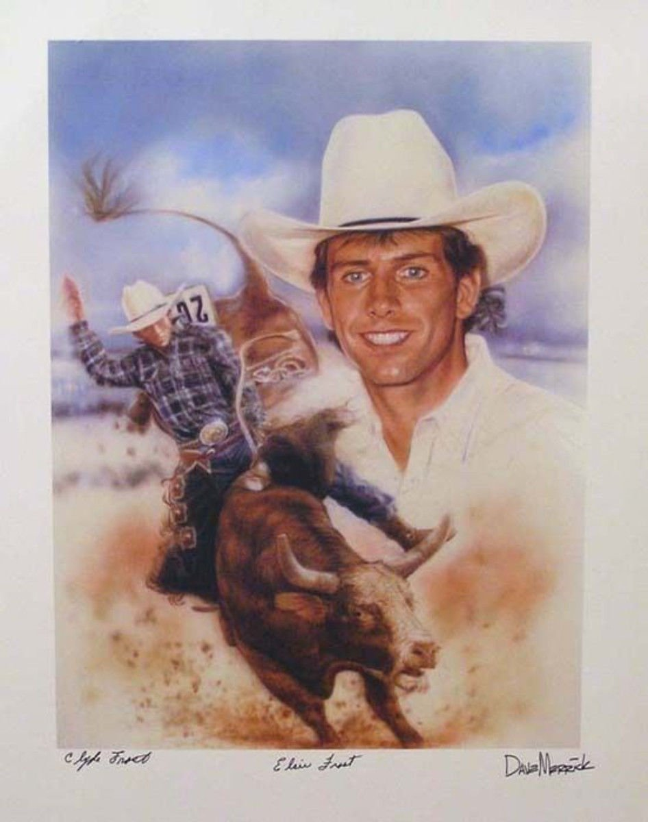 Limited Autographed Lane Frost Pbr Prca Pro Rodeo