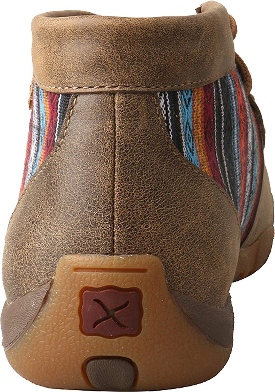0710505d1c1 Twisted X Women s Leather Lace-up Rubber Sole Driving Moccasins Serape.  Product Details