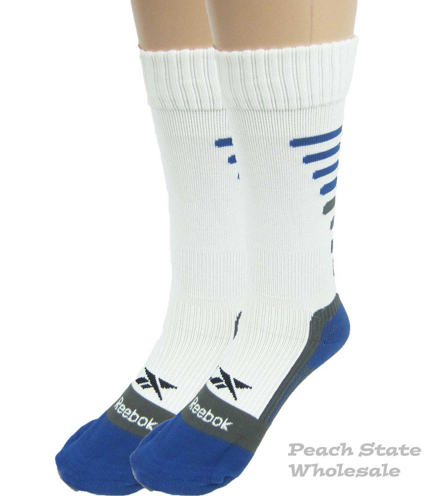 Reebok Venom-Premium All Sport Small Youth Socks White Blue Gray Shoe Size  13-4 d375b0c1e