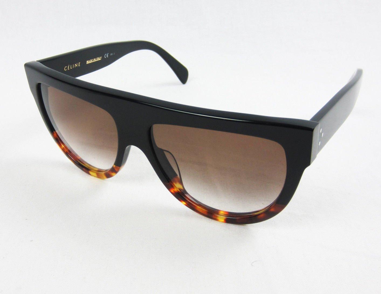 d94c130a62f3 Celine CL41026 S Sunglasses Black Havana Tortoise Fade Frame Brown Gradient  Lens