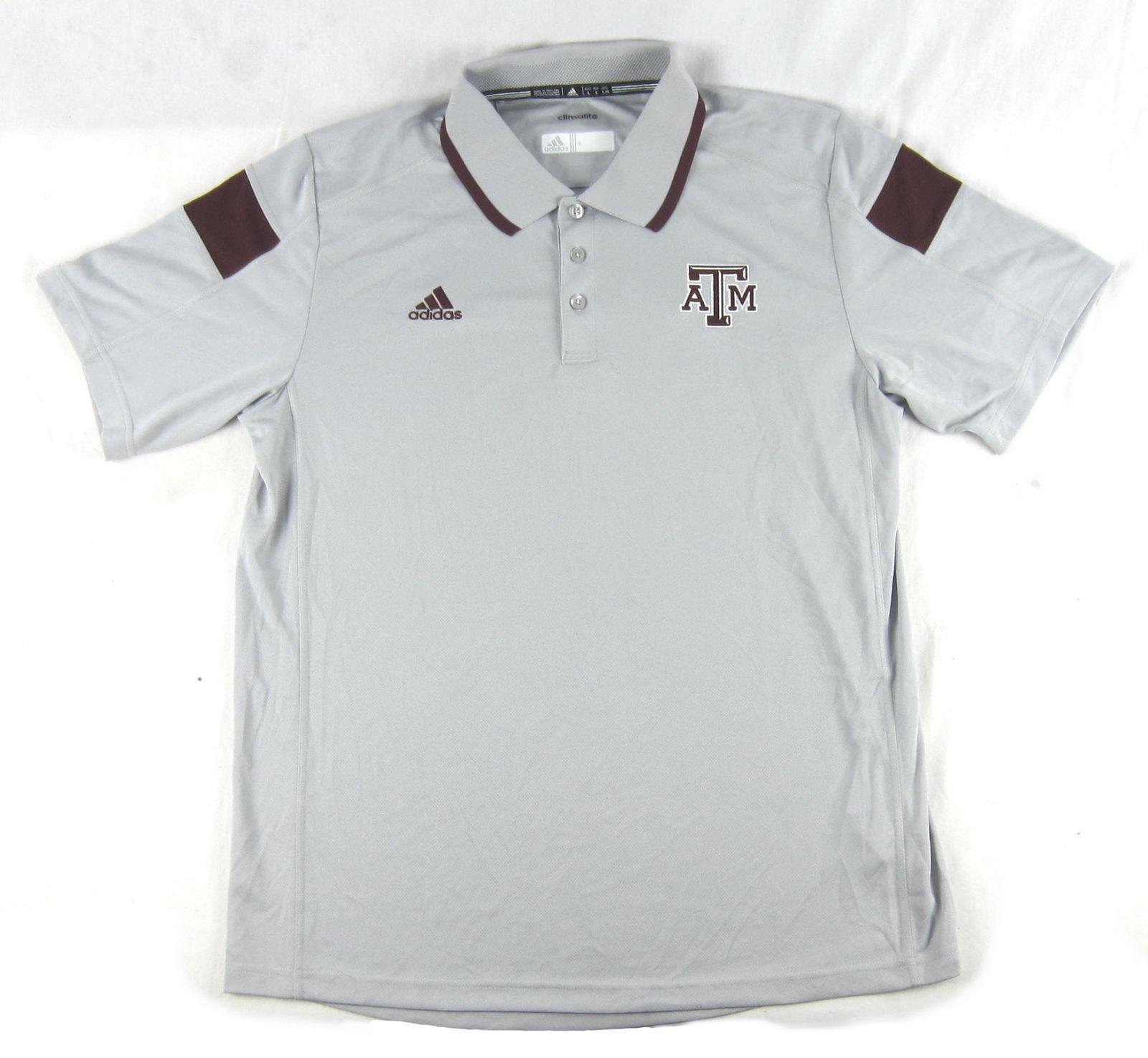 Adidas Licensed Nwt Texas Am Aggies Graymaroon Polo T Shirt