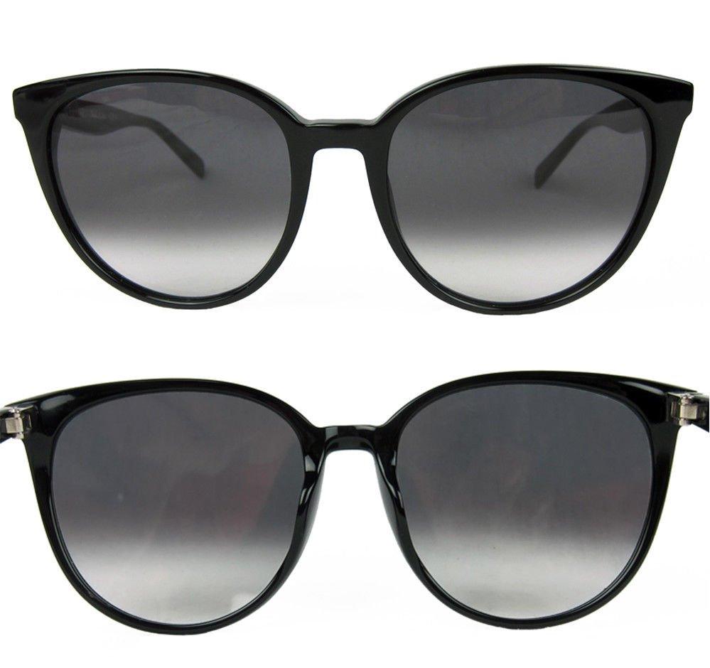 be501ffa93 Celine Thin Mary Large Round Sunglasses Black Frame Dark Grey Gradient 55mm