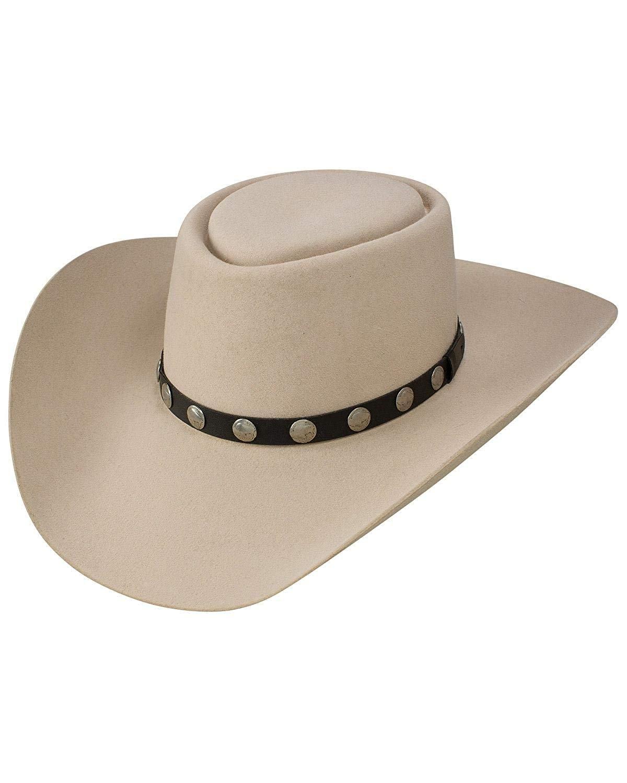 55f7c19cba150 Resistol Men s Buffalo River 6X Felt Hat Silver Belly 7 3 8 ...
