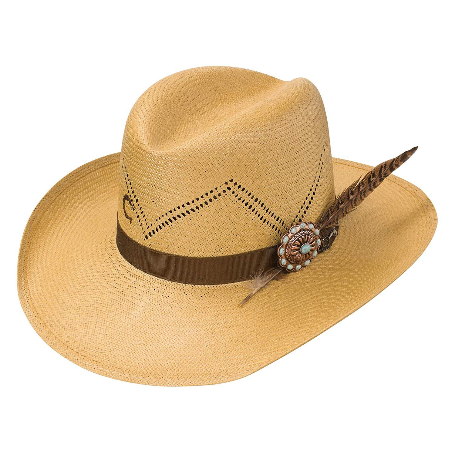 2b23389c9 Details about Charlie One Horse Hustlin Straw Cowboy Hat Size Small