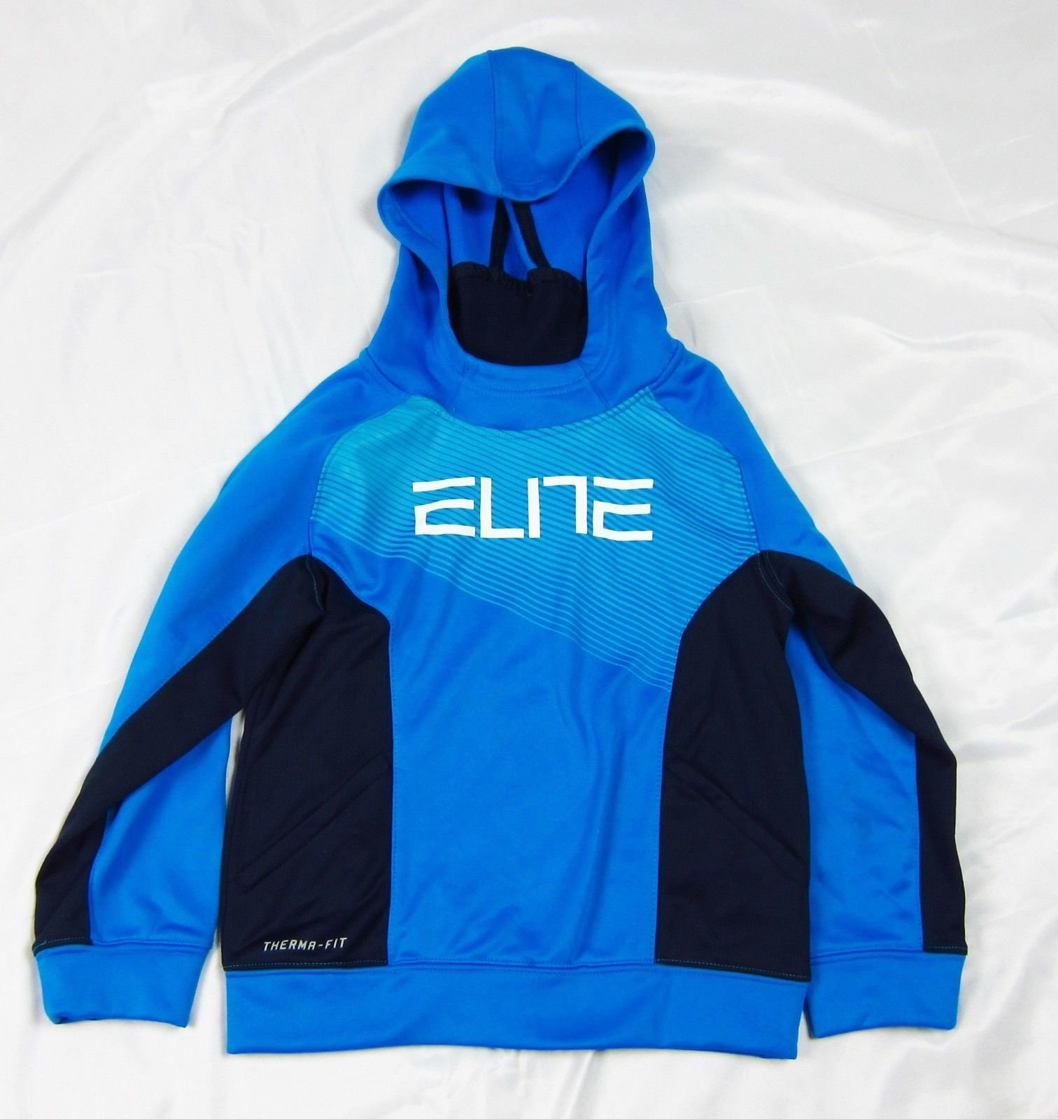 Nike Boys 6 Blue Nike Elite Pullover Hoodie Therma-Fit 100% Polyester f7398856ca5a