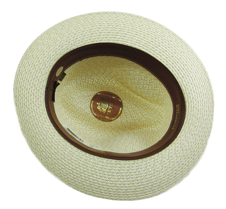 Stetson Winston Straw Hat Fedora Tan Size 7 3 8
