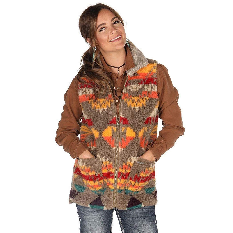 4f4641108 Panhandle Womens Ladies Aztec Berber Vest