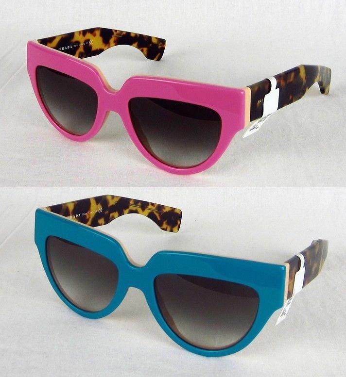 d087d1a88305 NEW Women s Prada Poeme SPR29P Sunglasses Cat Eye Pink Blue Tortoise  Authentic