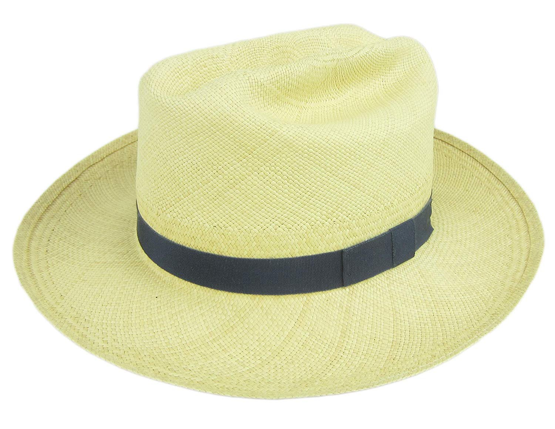 483375eb86b8 Stetson Lancaster Natural Straw Fedora Hat Size Large 3