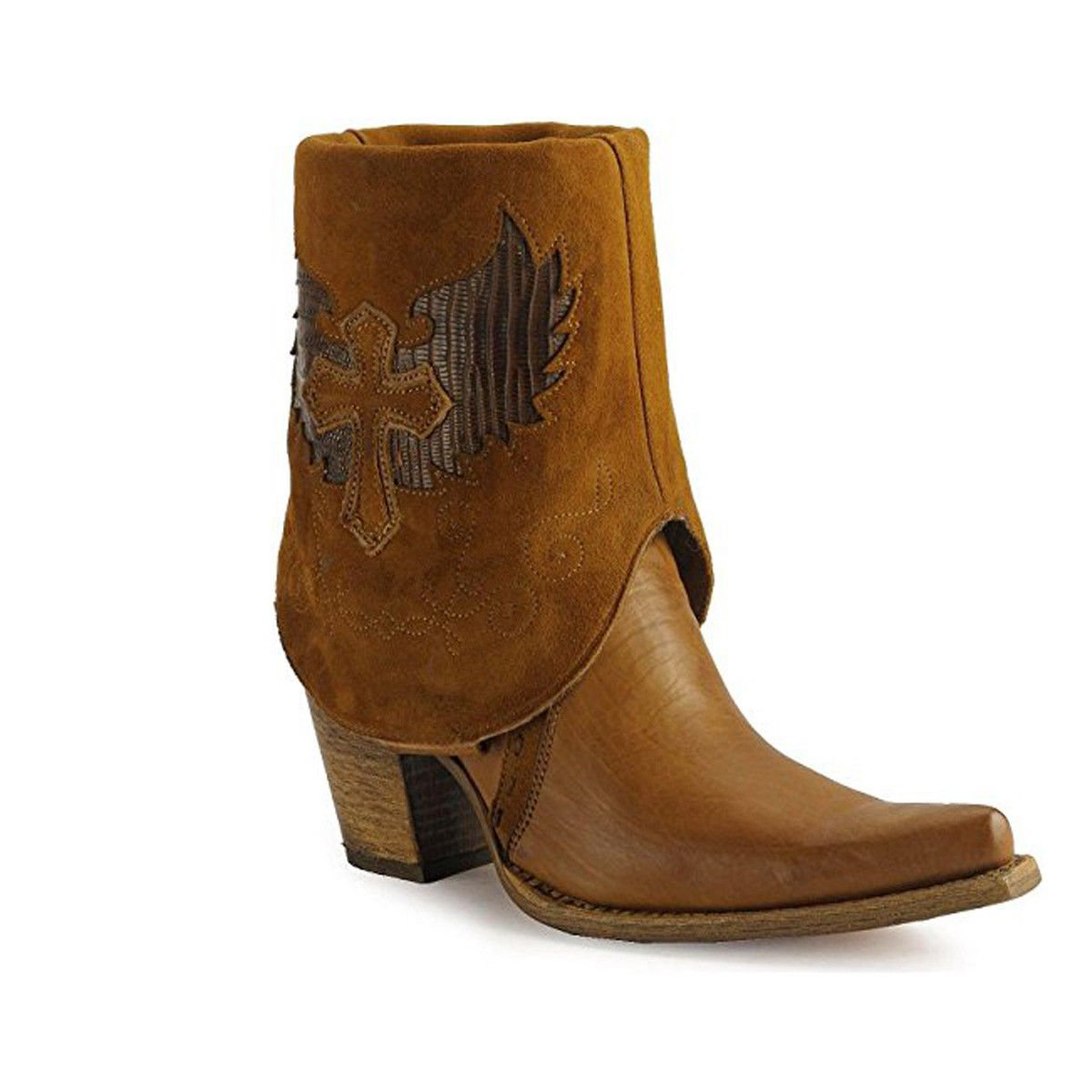 af56244bd20 Details about CORRAL Women's Cross Lizard Cuffed Pointed Toe Cowgirl Boots  C2213