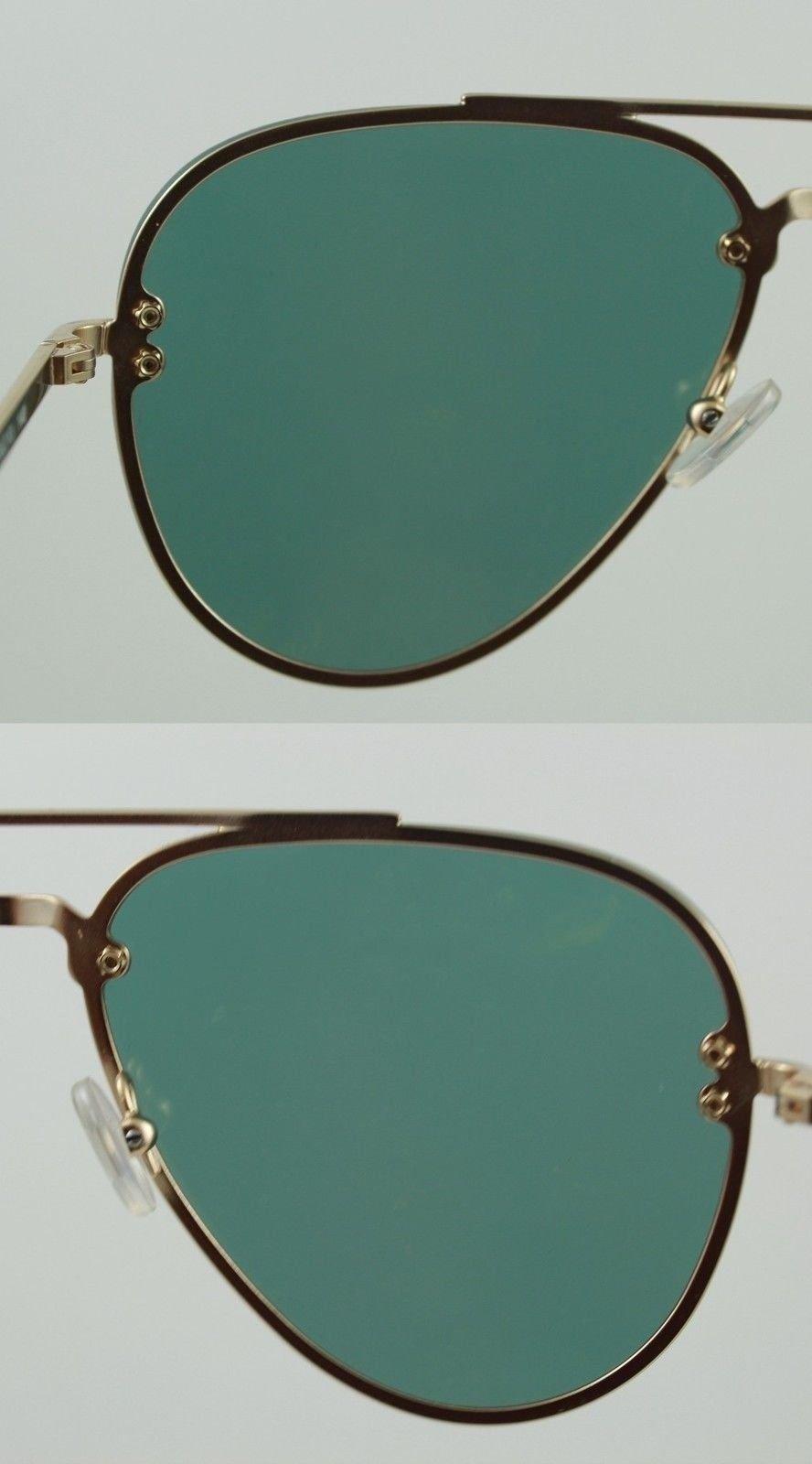 8656d5c17d49 Celine CL41392 s Sunglasses Gold Metal Rimless Aviators Pink Mirror Lenses  UV400