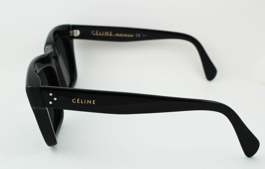 5c66b1e69c2 Celine CL 41023 S Thick Rim Traveller Sunglasses Black 807BN Square Brown  Lens. Product Details