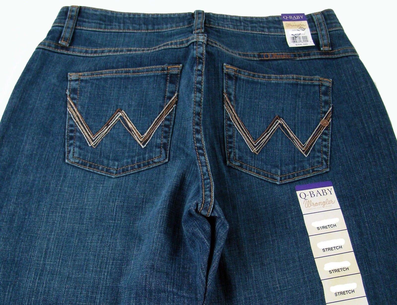 e8b6aea3 Womens Wrangler Q-Baby Mid Rise Boot Cut Tuff Buck Jeans WRQ20TB Choose  Size. Product Details