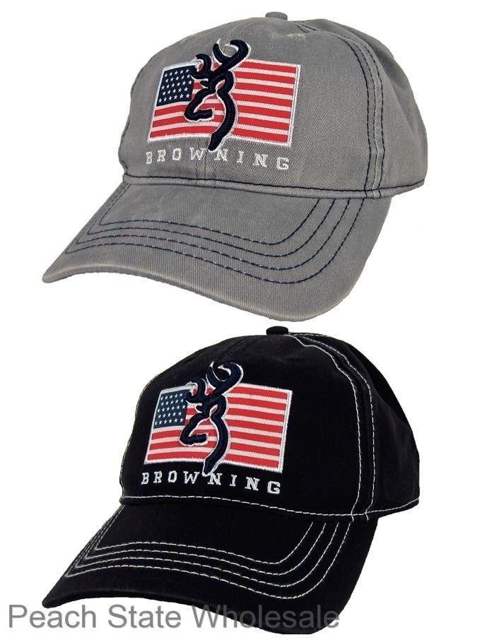 best website e1354 77576 ... italy mens nwt browning pride cap buckmark baseball cap american flag  hat black gray c9ec2 02d83