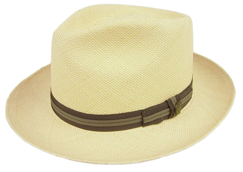 5acb89b77b0f Stetson Hampshire Panama Straw Fedora Hat 81 Natural Size 7 1/8