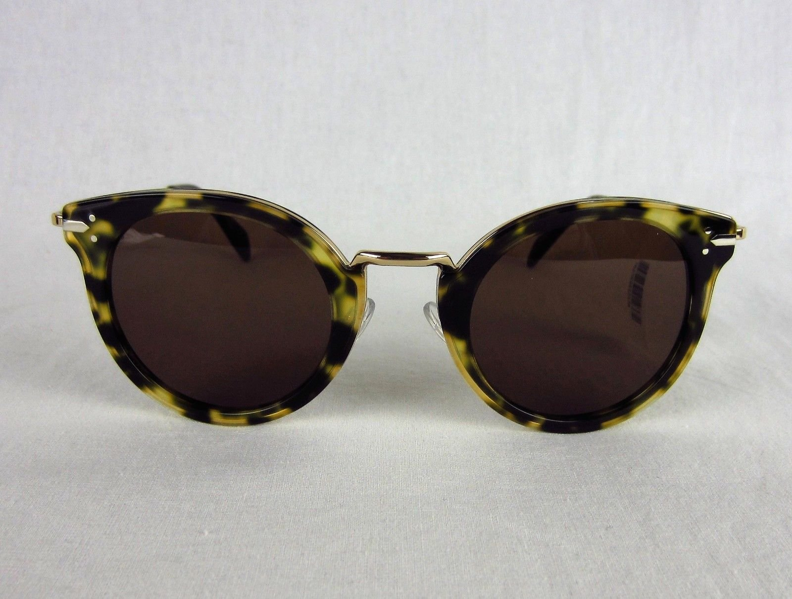 fb8a093efcb1 Details about NWT Celine Lea 41373 S J1L-A6 Green Havana Tortoise Round  Sunglasses Retro  485