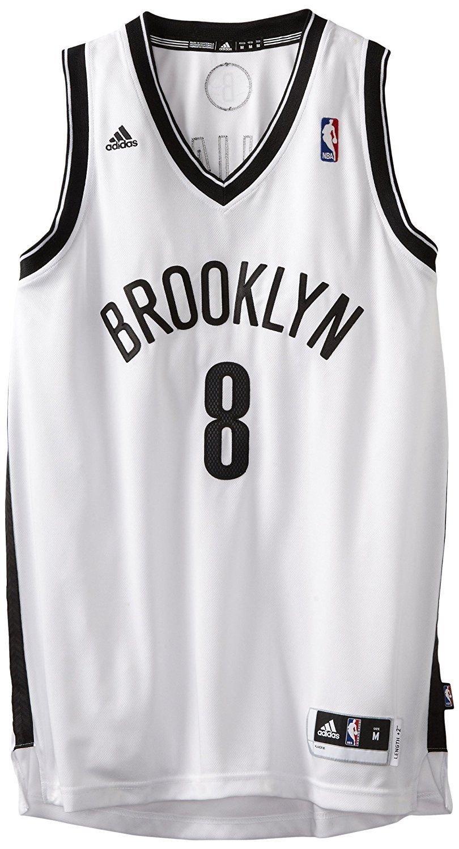 fe7ce4f329e9 NBA Brooklyn Nets Deron Williams  8 Swingman Jersey White Size XL ...