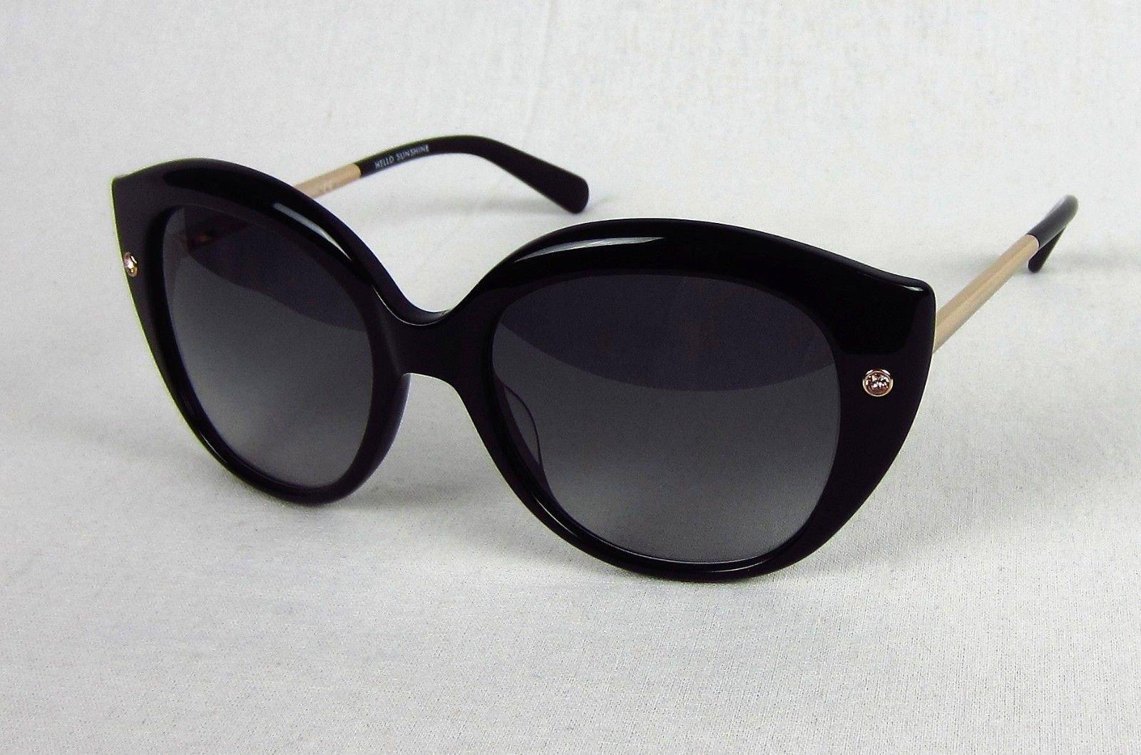 3fa2638e7e07 Details about Kate Spade Kaelee/S Sunglasses Black Cat Eye Frame 0807-F8  Pink Rhinestone Gold