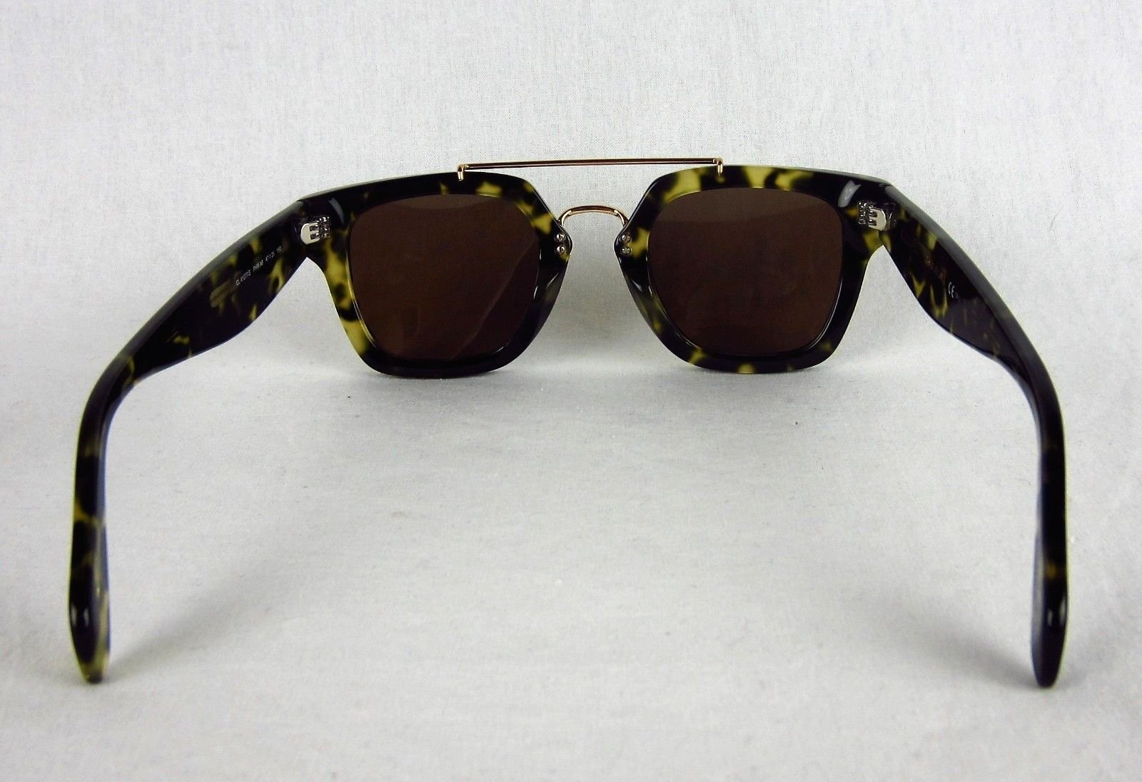 c6431468d08e Product Details. Celine CL 41077 S Bridge Sunglasses Green Havana Tortoise  Square  495 Authentic ...
