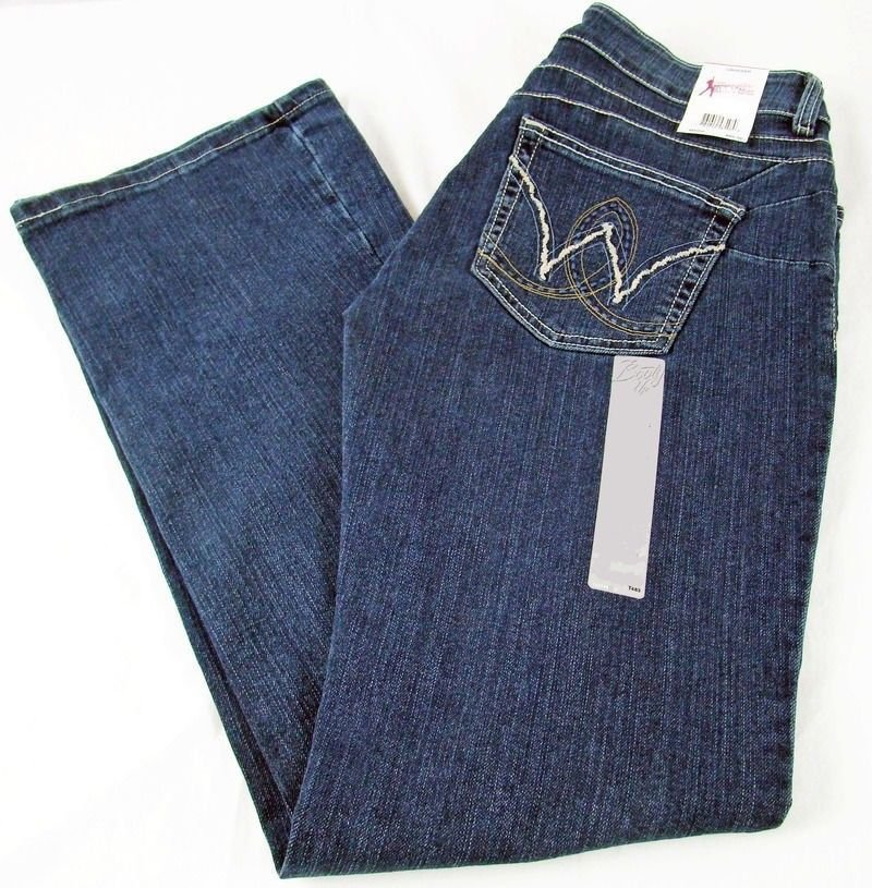 Womens Wrangler Booty Up Mae Low Rise Jeans American Royal 10mwzar Sz 7 8 X 32