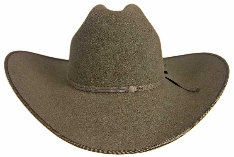 94abfad9cf5ff Resistol 6X Jett Cowboy Hat Stone Gray 7 1 8 Oval 4 1 4 Brim ...