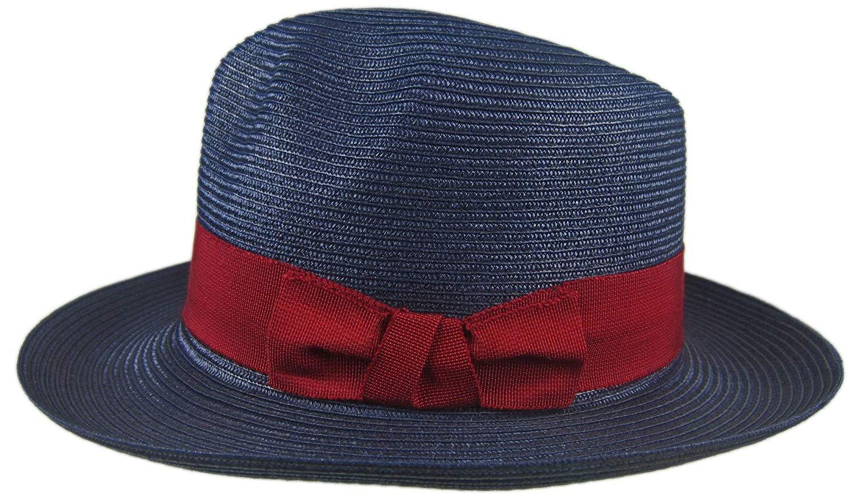 57df67bec8314 Stetson Renaissance Navy Soft Milan Straw Hat Fedora Size 7 1 8 R Oval 2 3 8
