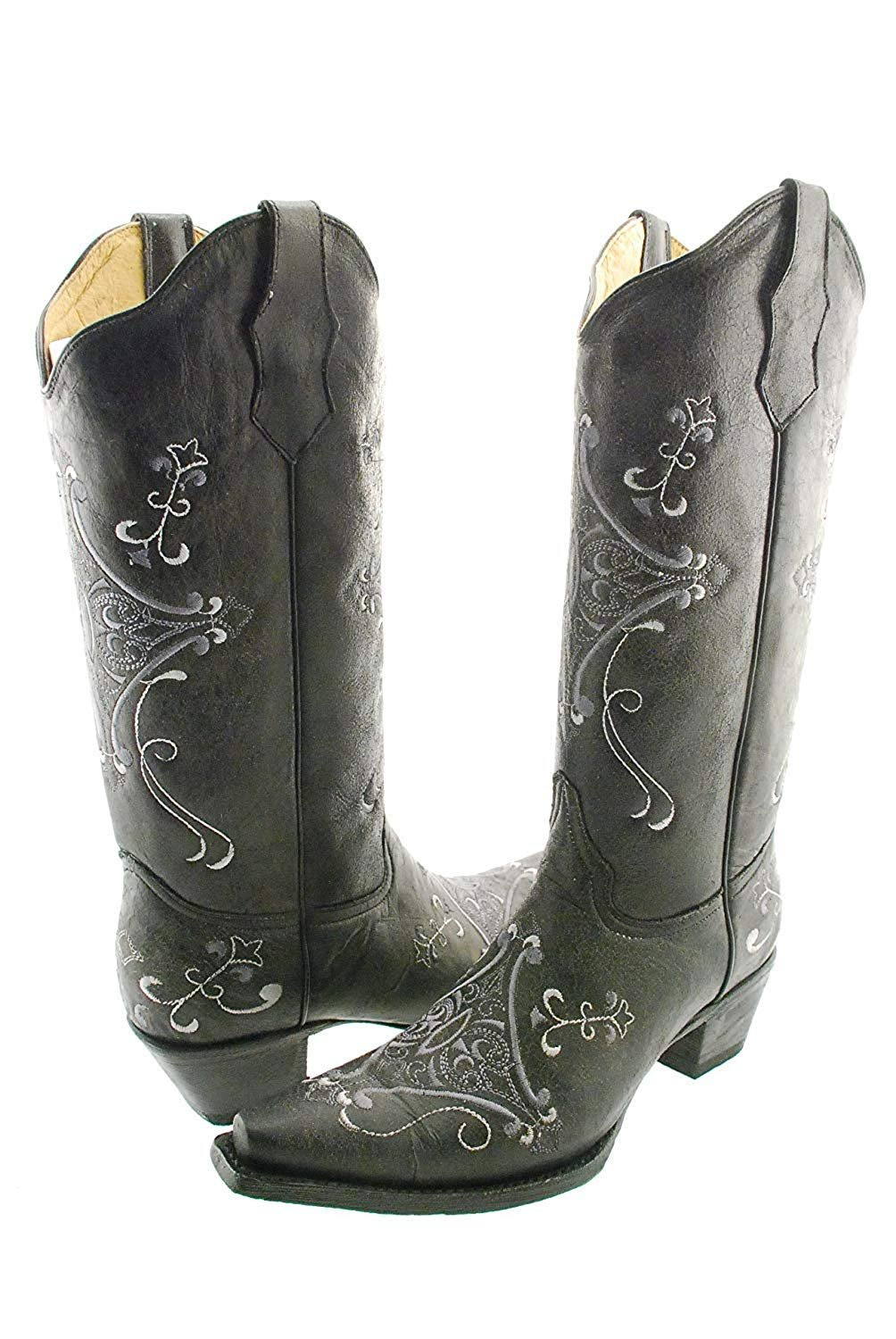 63c57638ae3 Details about CORRAL Women's Circle G Crackle Scroll Bone Embroidered  Western Boot