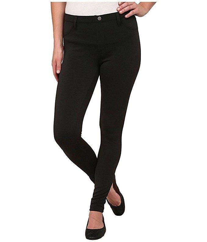 0e28e04a776728 NWT HUE Women's Scuba Leggings Back Pocket Real Belt Loops Pants Black Size  XS