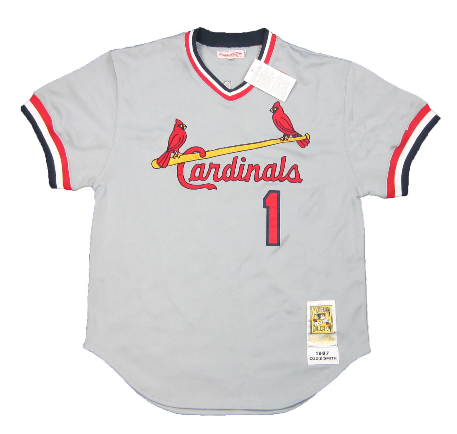 buy popular 0c6fa 7e418 Details about Mitchell & Ness Ozzie Smith 1987 Authentic Cooperstown  Collection Jersey