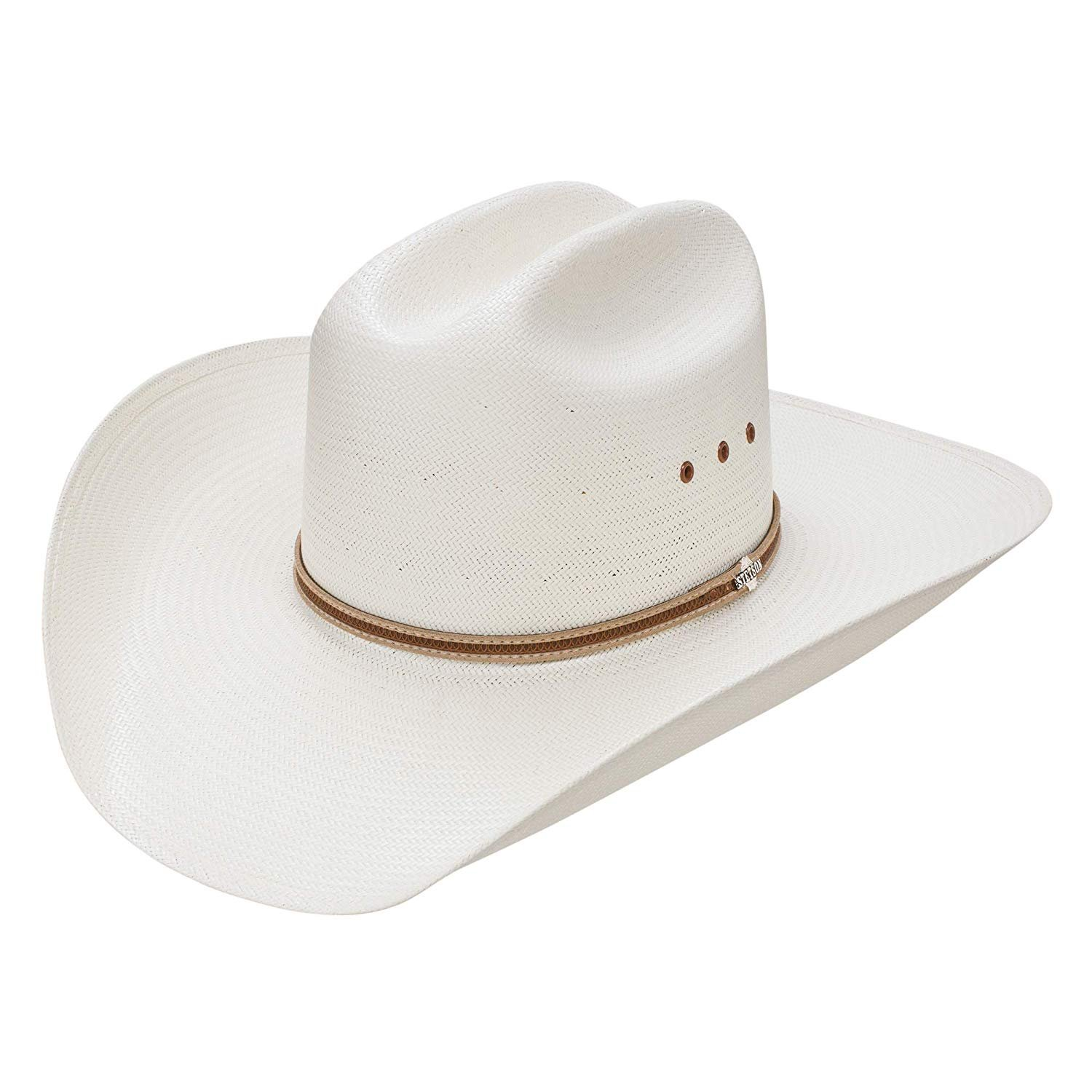 sold worldwide superior quality picked up Details about Stetson Bisbee 8X Straw Natural Cowboy Hat 7 3/8