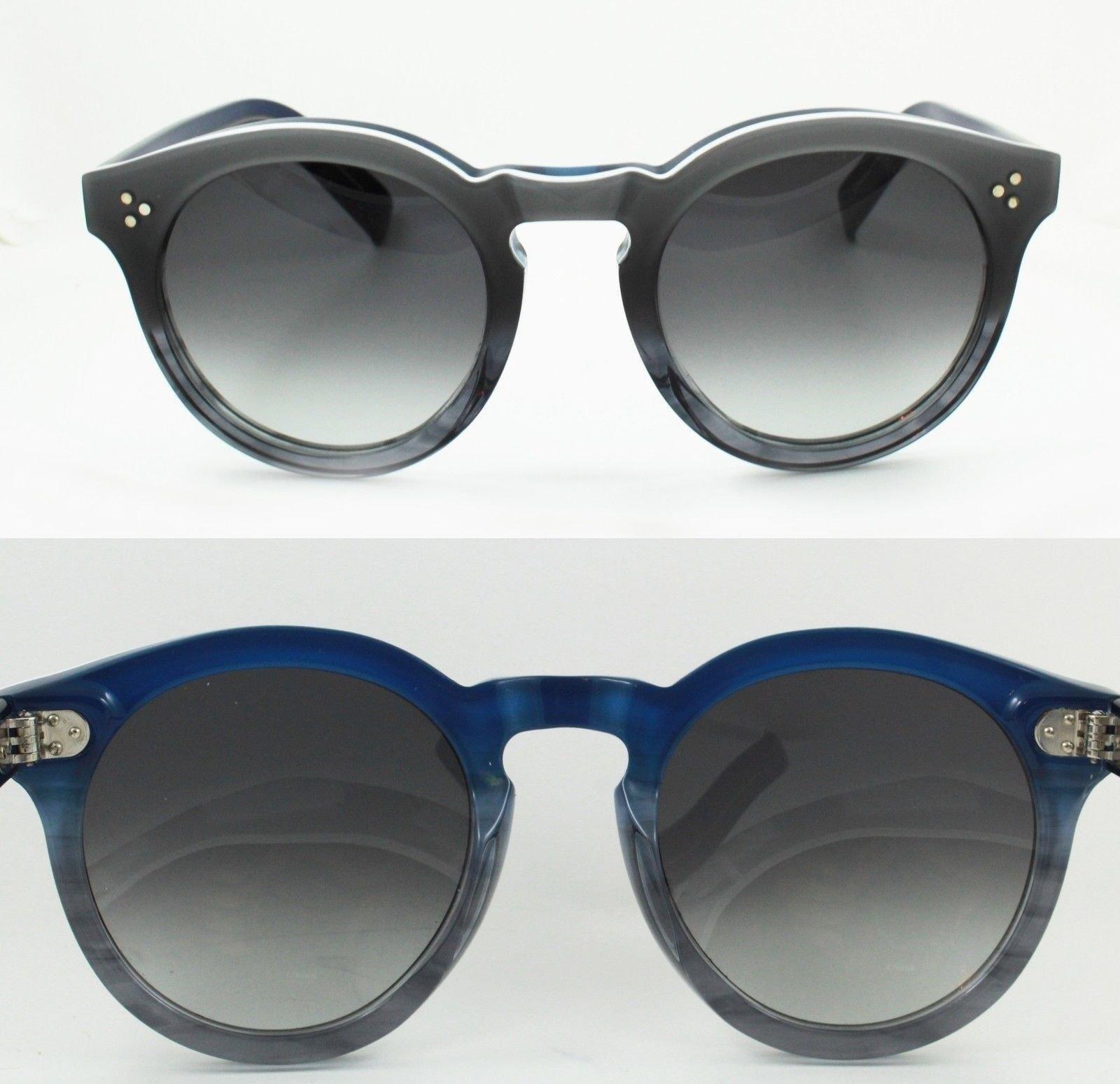 Illesteva Leonard Ii Sunglasses Gray Ombre And Blue Frame