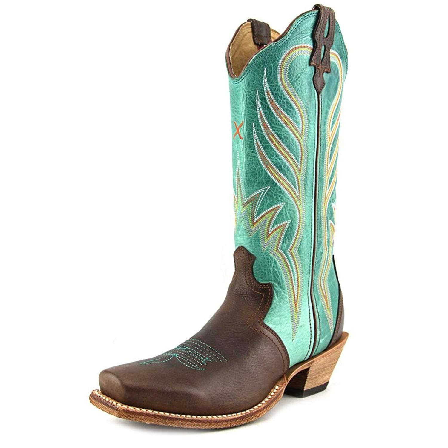 c31f5cb535f Twisted X Women's Turquoise Steppin' Out Cowgirl Boot Square Toe - Wso0015
