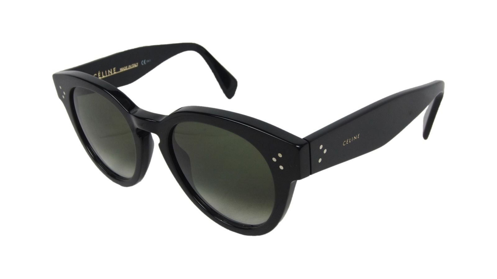 3088806ff77b Celine CL 41049 Thin Preppy Sunglasses Black Frame and Green Grey Gradient  Lens